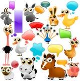 zwierzęcy kreskówki gospodarstwa rolnego set Fotografia Royalty Free