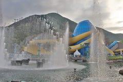 zwierzęcy park tematyczny i park rozrywki, obubrzeżny hk fotografia royalty free