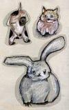 zwierzęcy rysunek Fotografia Royalty Free