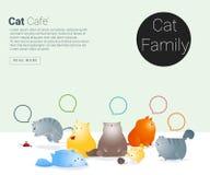 Zwierzęcy sztandar z kot opowieścią dla sieć projekta Obraz Royalty Free