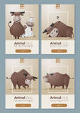 Zwierzęcy sztandar z krowami dla sieć projekta Obrazy Stock