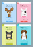 Zwierzęcy sztandar z psami dla sieć projekta Zdjęcia Royalty Free