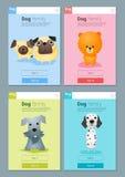 Zwierzęcy sztandar z psami dla sieć projekta 8 Zdjęcia Royalty Free