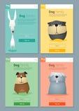 Zwierzęcy sztandar z psami dla sieć projekta 7 Obraz Royalty Free