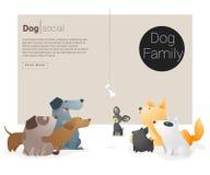 Zwierzęcy sztandar z psem dla sieć projekta 1 Fotografia Royalty Free
