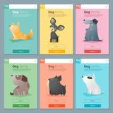 Zwierzęcy sztandar z psem dla sieć projekta 3 Obraz Royalty Free