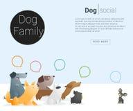Zwierzęcy sztandar z psem dla sieć projekta 2 Zdjęcia Stock