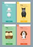 Zwierzęcy sztandar z psem dla sieć projekta Obrazy Royalty Free