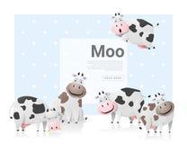Zwierzęcy tło z krowami Zdjęcie Stock