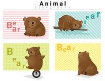 Zwierzęcy tło z niedźwiedziami 1 Zdjęcia Royalty Free