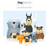 Zwierzęcy tło z psami 2 Obraz Stock
