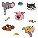 Zwierzęcych głów tapetowy tło Zdjęcie Stock