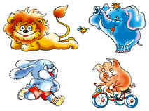 zwierzęta śmieszni Ilustracja Wektor
