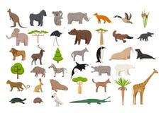 Zwierzęta świat royalty ilustracja