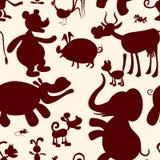 zwierzęta bezszwowy wzoru Fotografia Stock