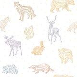 zwierzęta deseniują bezszwowy dzikiego Fotografia Stock