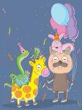 Zwierzęta domowe Party_eps Obrazy Royalty Free