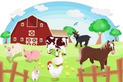 Zwierzęta gospodarskie ilustracja wektor