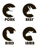 Zwierzęta gospodarskie etykietki royalty ilustracja