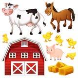 Zwierzęta gospodarskie i stajnia royalty ilustracja