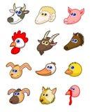 Zwierzęta gospodarskie przewodzą set royalty ilustracja