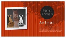 Zwierzęta gospodarskie tło z koniem ilustracji