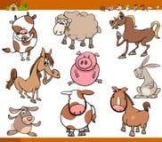 Zwierzęta gospodarskie ustawiają kreskówki ilustrację Zdjęcie Royalty Free