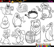 Zwierzęta i karmowej kolorystyki strona ilustracji