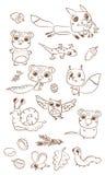zwierzęta lasowi ilustracja wektor