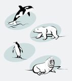 zwierzęta północni ilustracji