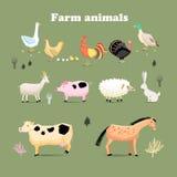 zwierzęta uprawiają ziemię set Zdjęcie Stock
