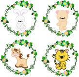 Zwierzęta w wektorze: Zając, niedźwiedź, koń, tygrys Obrazy Stock