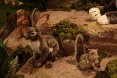 Zwierzęta zoo z faszerującymi zwierzętami na wycieczce turysycznej w Włochy Zdjęcie Stock