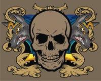 zwierzęca kwiecista czaszka Obrazy Royalty Free