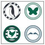 Zwierzęce odznaki Fotografia Royalty Free
