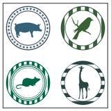 Zwierzęce odznaki Zdjęcie Stock
