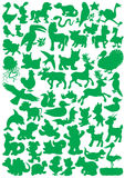 Zwierzęce sylwetki Zdjęcia Stock