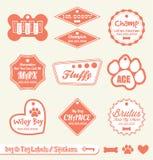 Zwierzęcia domowego Imienia Etykietki i Majchery Fotografia Royalty Free