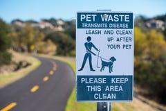 zwierzęcia domowego znaka odpady Obraz Royalty Free