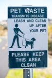 zwierzęcia domowego znaka odpady Fotografia Royalty Free