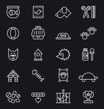 Zwierzę domowe ikony set Obrazy Stock