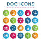 Zwierzę domowe: Psi ikona set Obrazy Stock