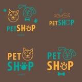 Zwierzę domowe sklepu biznesu set Zdjęcia Stock