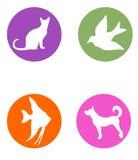 Zwierzę domowe sklepu logowie Zdjęcia Stock