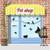 Zwierzę domowe sklepu sklep Zdjęcia Stock