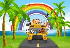Zwierzę i autobus Fotografia Stock