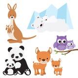 Zwierzę i dziecko ilustracji