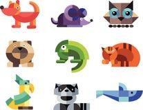 Zwierzę, projekta zoo myszy iguana Obraz Royalty Free