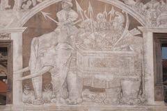 Zwierzę symbole w archutecture Zdjęcia Royalty Free