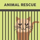 Zwierzę sztuki Ratowniczy Ilustracyjny Wektorowy logo Fotografia Royalty Free